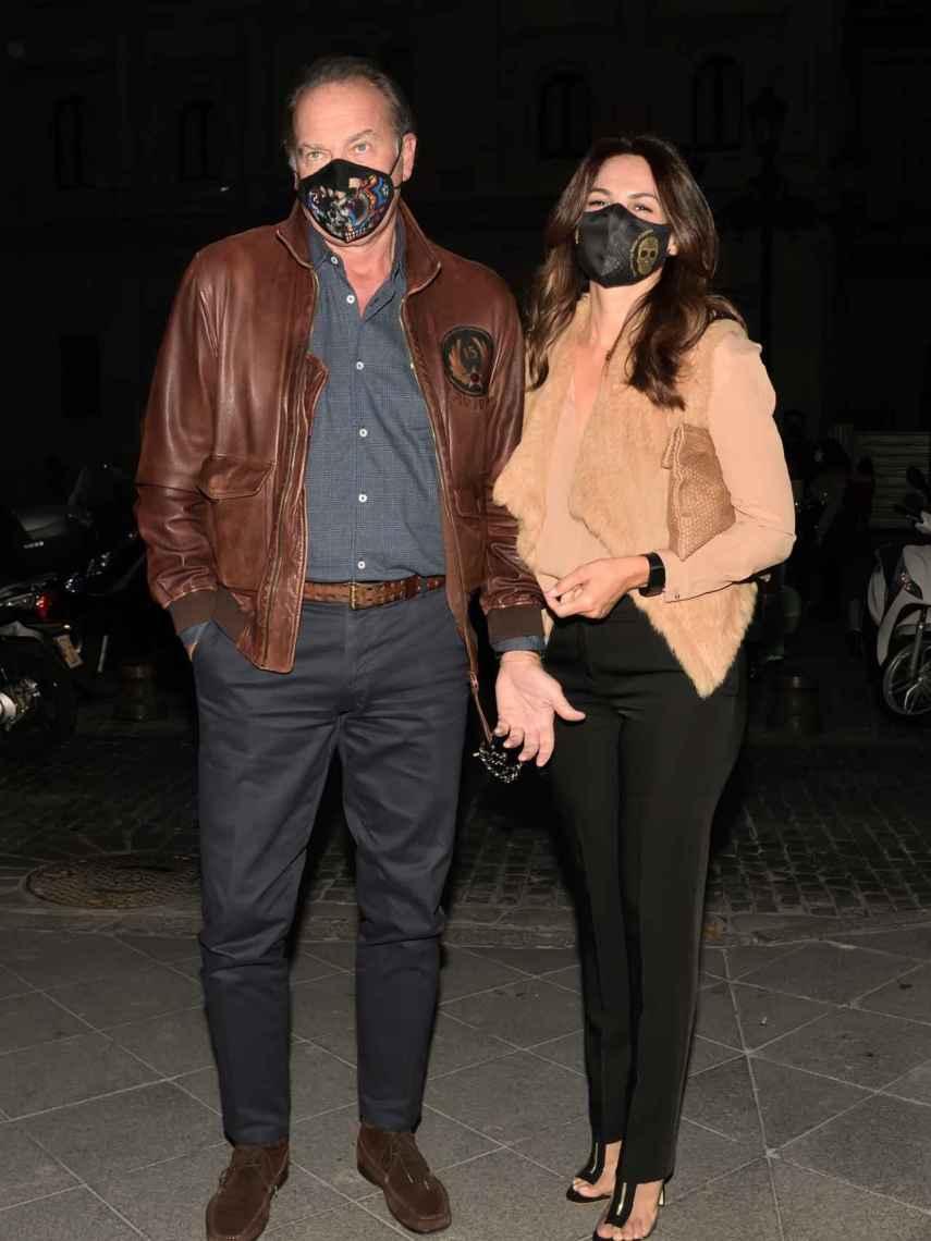 Bertín Osborne y Fabiola Martínez el pasado mes de octubre en Sevilla.