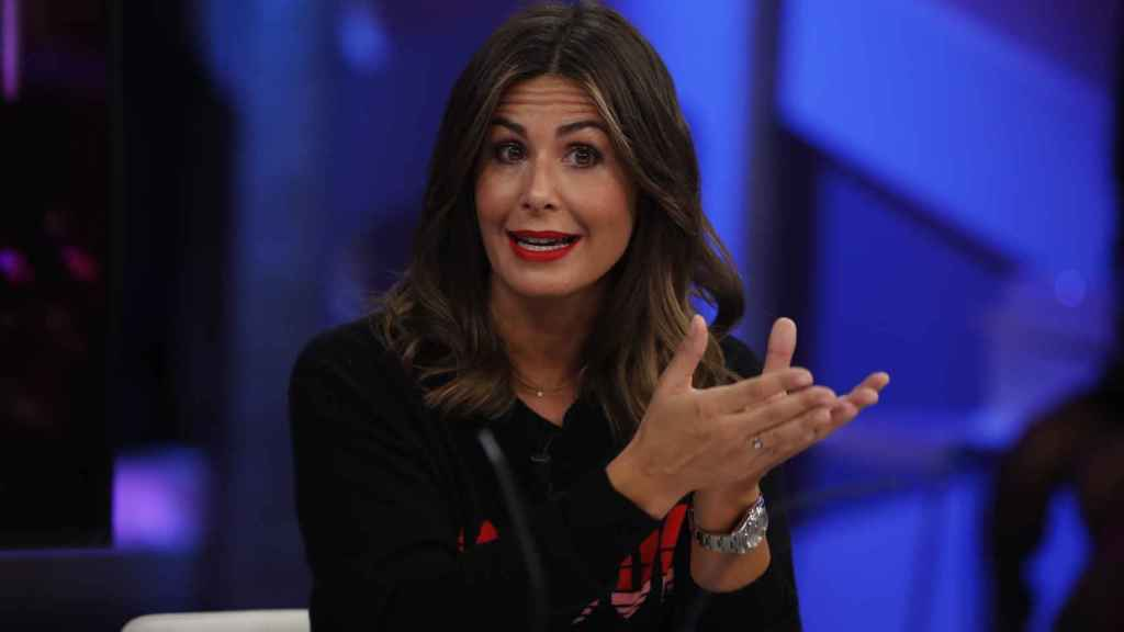 Nuria Roca, durante una emisión de 'El Hormiguero'.
