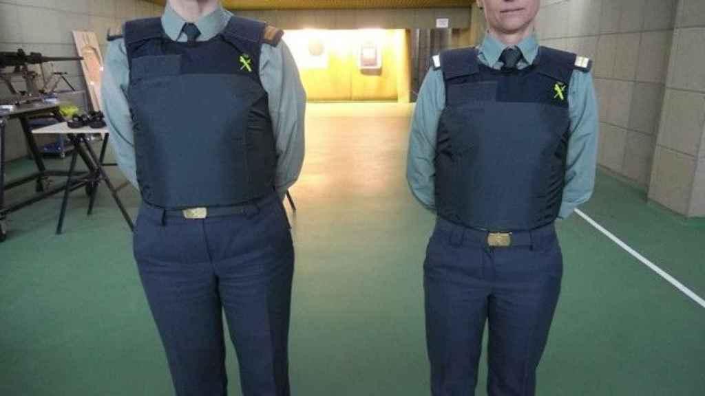 Chalecos antibalas de la Guardia Civil.