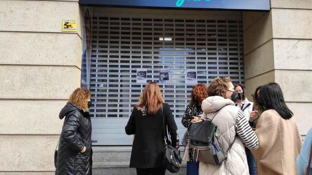 Huelga de trabajadores  por el ERE de Douglas.
