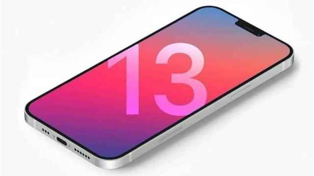 Imagen renderizada con el posible diseño del iPhone 13