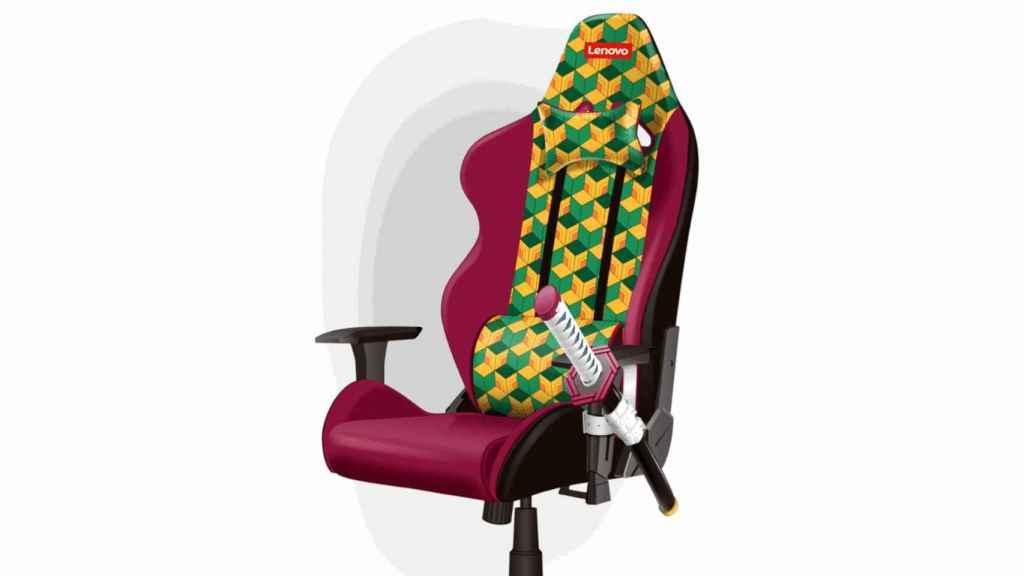 La nueva silla gaming de Lenovo con katana integrada