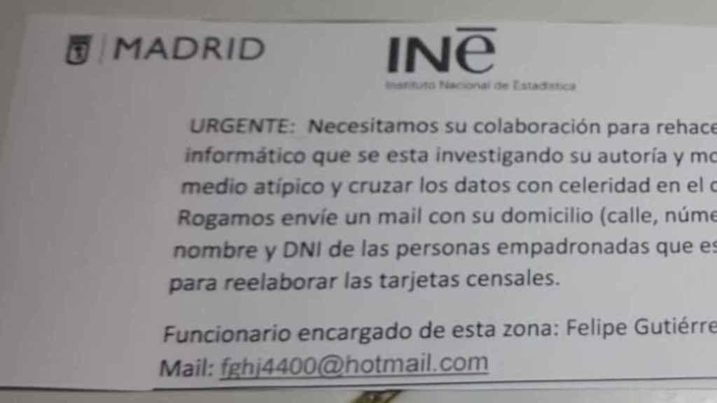 Mensaje falso del INE que pide datos del usuario
