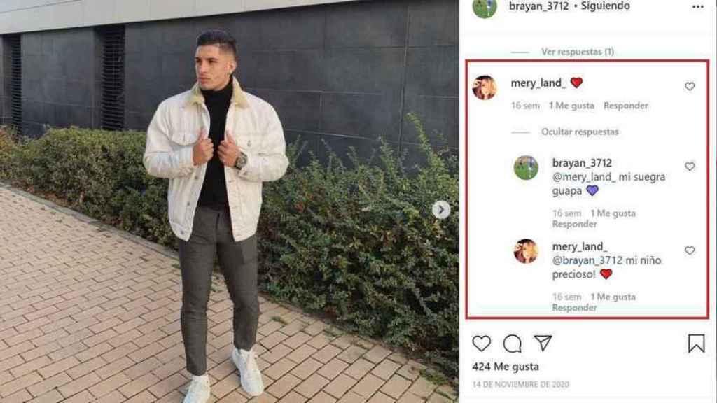 Así se intercambiaron piropos en Instagram el pasado 14 de noviembre.