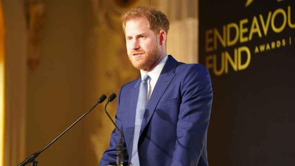 El príncipe Harry en un acto público en marzo de 2020.