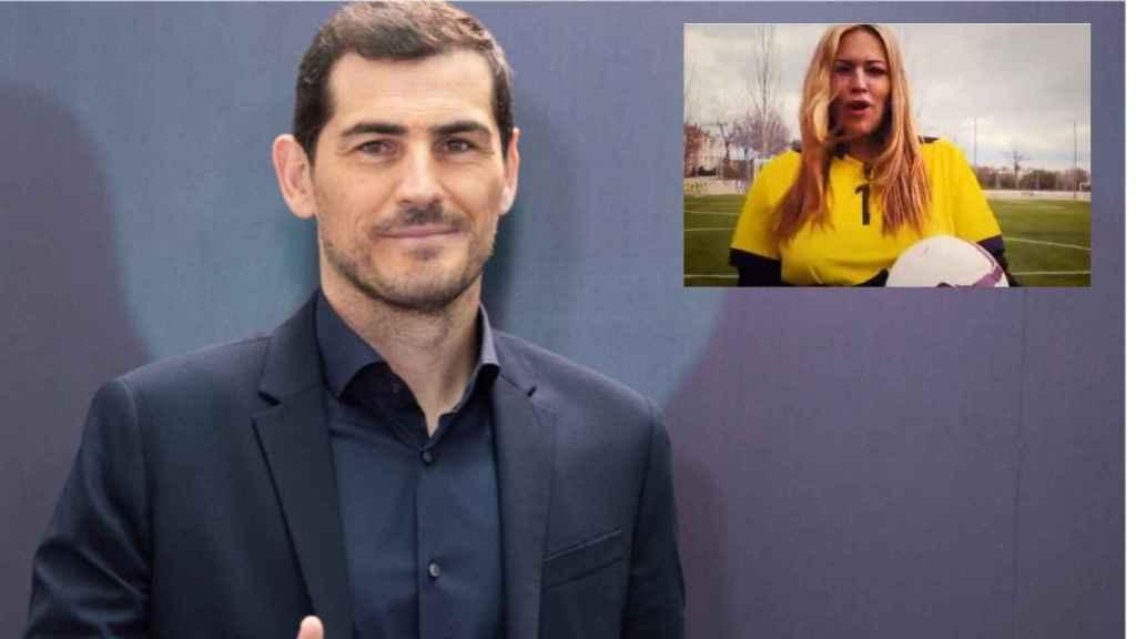 Ruth, la supuesta examiga especial de Iker Casillas, junto al futbolista en montaje de JALEOS.