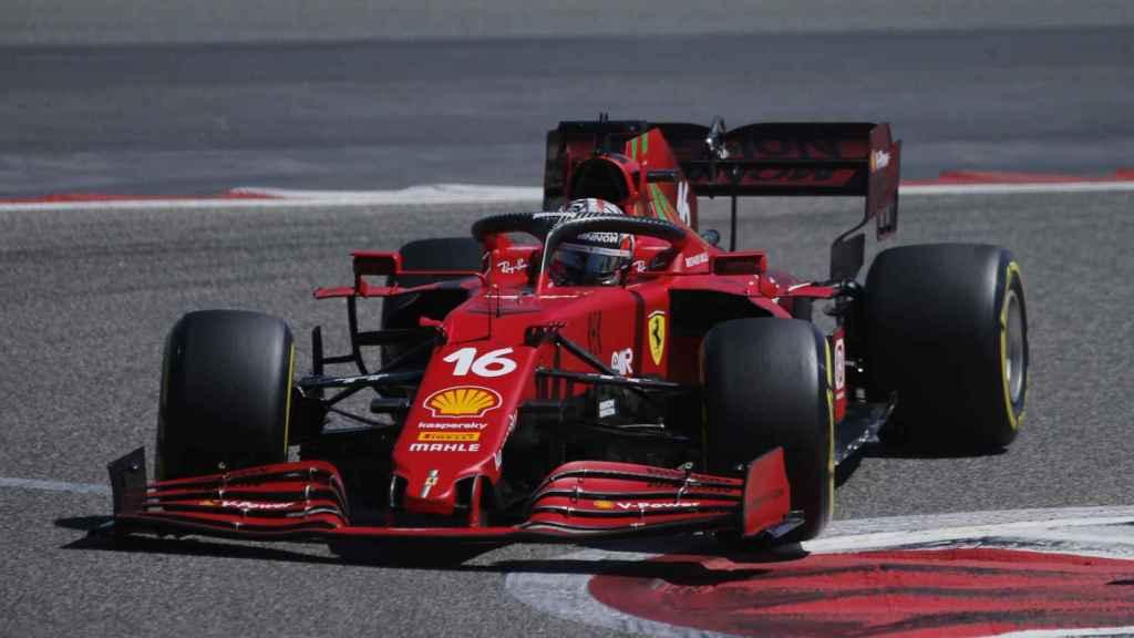 Leclerc en los test de Bahrein de F1