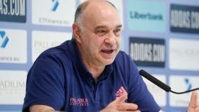Pablo Laso, en rueda de prensa previa de la Liga Endesa