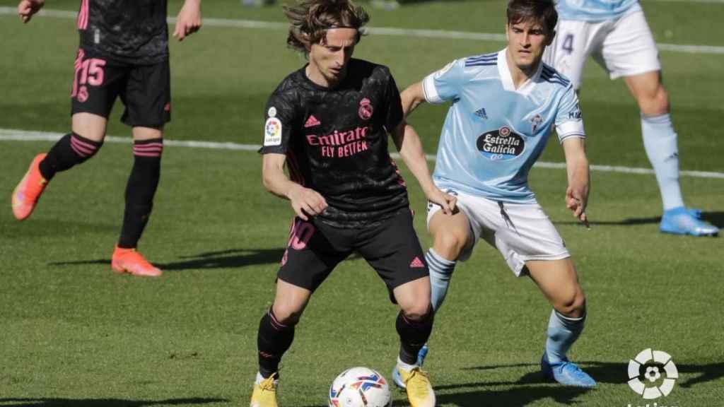 Luka Modric, en el Celta de Vigo - Real Madrid de La Liga