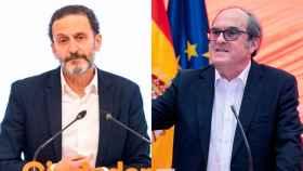 A la izquierda, Edmundo Bal, candidato de Cs a la Comunidad de Madrid. Y a la derecha, Ángel Gabilondo, candidato del PSOE.