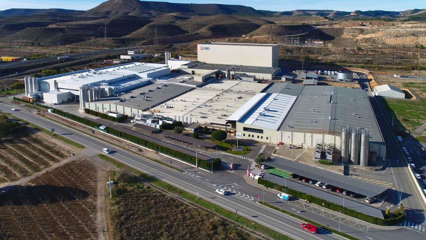 La planta de BD en Fraga (Huesca).