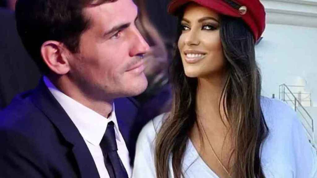 Iker Casillas junto a Sara Denez, la mujer con la que se le relaciona, en un fotomontaje de JALEOS.