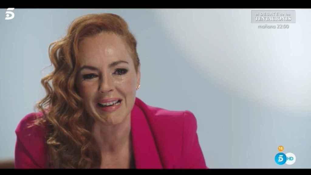Rocío Carrasco, rota de dolor durante el documental sobre su vida.