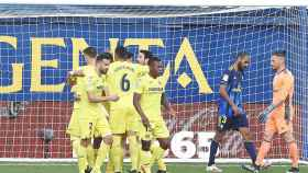 Los jugadores del Villarreal celebran un gol en La Liga