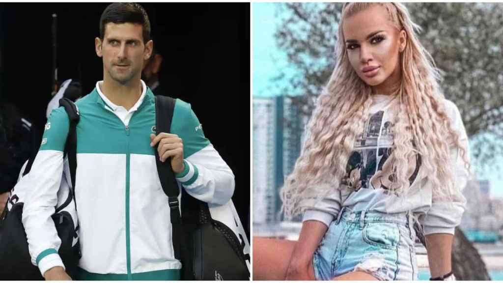 Djokovic y la modelo Natalija Scekic