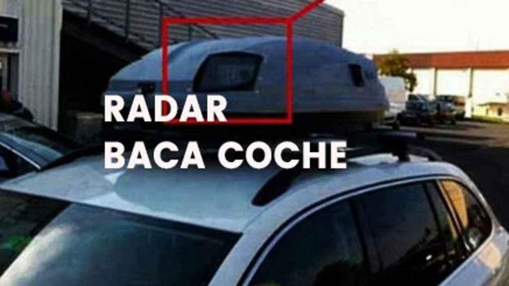 Falso radar oculto en la baca de un coche.