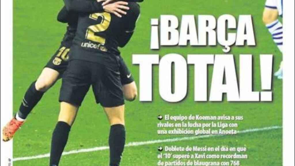 La portada del diario Mundo Deportivo (22/03/2021)