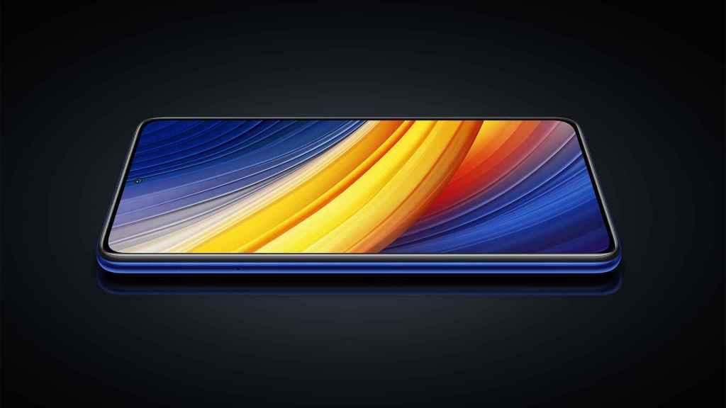 POCO X3 Pro en azul.