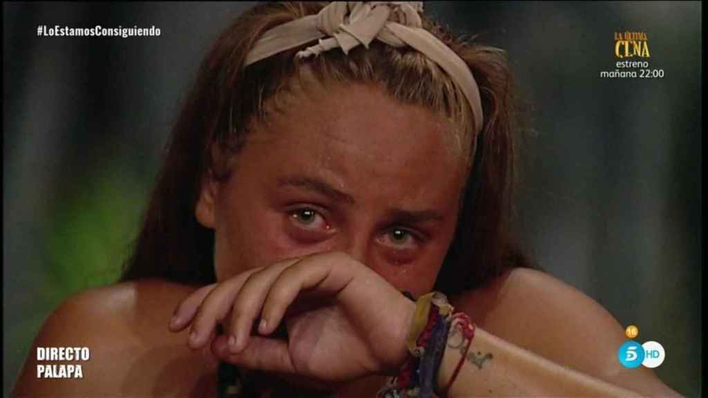 Rocío rota en llanto en uno de los llamamientos que hizo a su madre desde la isla de 'Supervivientes'.