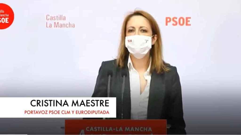 La dirigente socialista y eurodiputada castellanomanchega, Cristina Maestre.