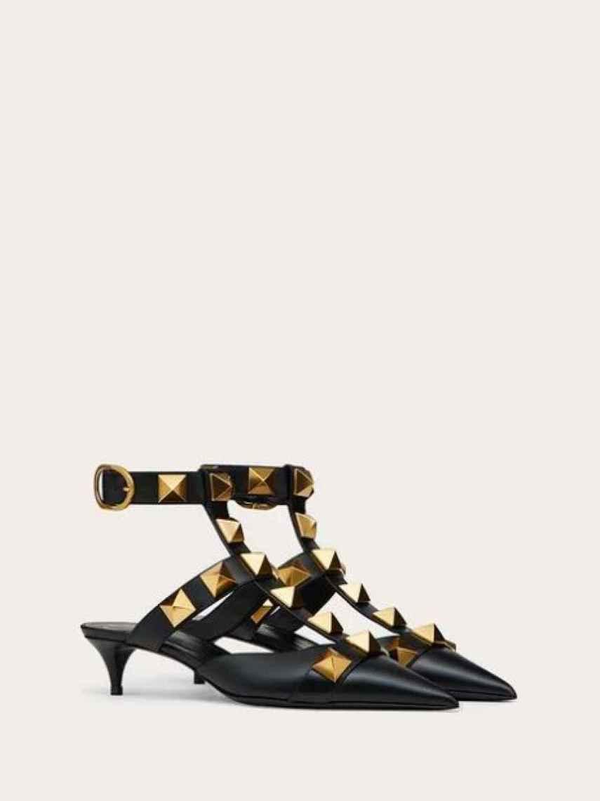 La versión 'kitten heel' de los nuevos Valentino.