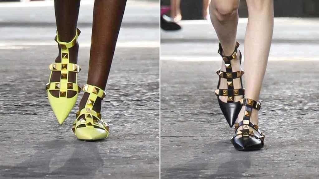 El nuevo modelo de Valentino, una reinversión de su clásica bailarina de tachuelas.