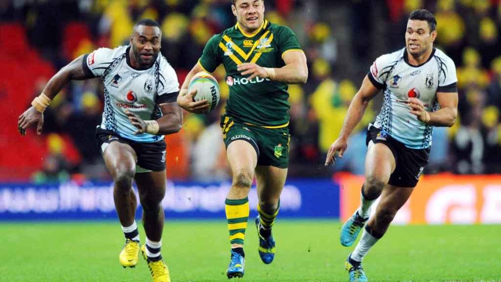 Jarryd Hayne durante un partido de rugby