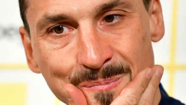 Zlatan Ibrahimovic, en rueda de prensa con la selección de Suecia
