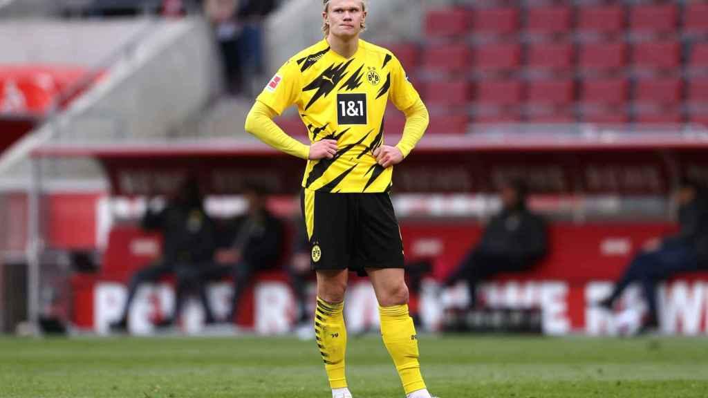 Erling Haaland, en un partido del Borussia Dortmund