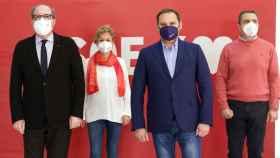 José Luis Ábalos y el candidato del PSOE en Madrid, Ángel Gabilondo.