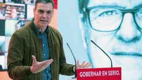 Pedro Sánchez, en la presentación de Ángel Gabilondo como candidato del PSOE a la Comunidad de Madrid.