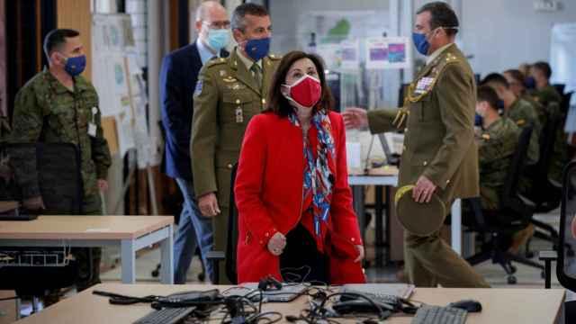 La ministra de Defensa, Margarita Robles, este lunes.