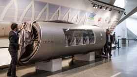 La maqueta del Hyperloop valenciano, que se mostrará al público durante la Expo de Dubai