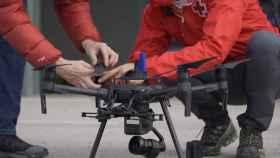 Uno de los drones empleados por la Cruz Roja en su simulacro de rescate de personas