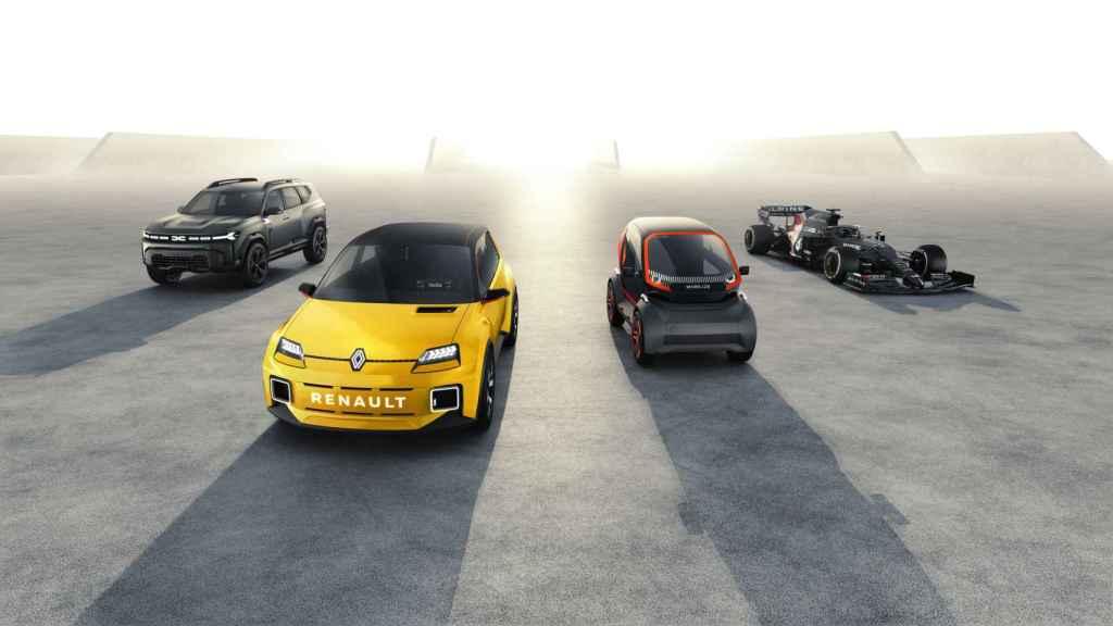 Nuevos modelos que fabricará Renault, Dacia y la marca deportiva Alpine .