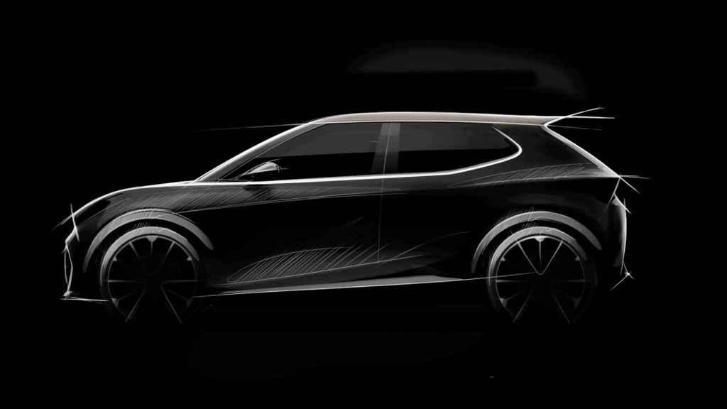Dibujo que anticipa el próximo coche eléctrico de pequeño tamaño de Seat o Cupra.