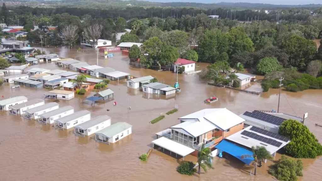 Imagen aérea de las inundaciones en Australia, que han afectado al estado de Nueva Gales del Sur.
