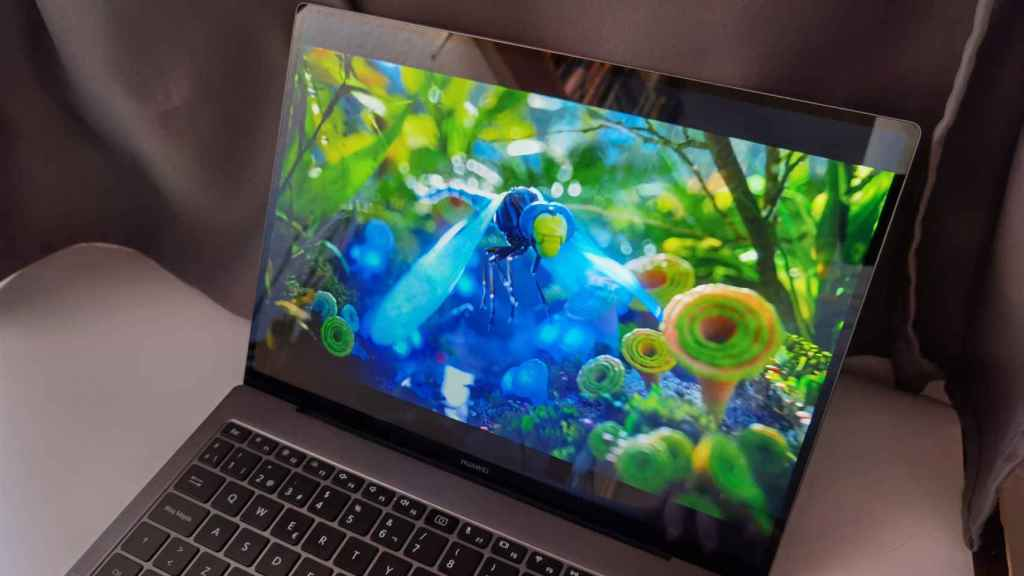 La pantalla del Huawei MateBook X Pro destaca por su resolución y colores