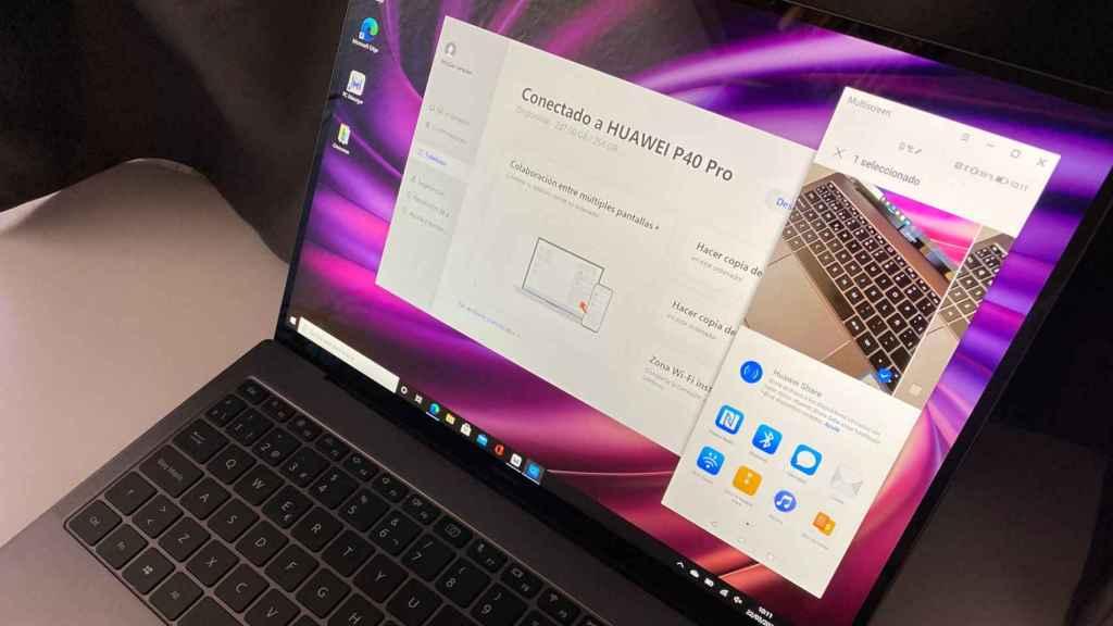 La conexión con móviles Huawei es el as en la manga del MateBook X Pro