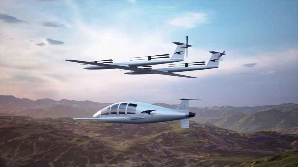 Taxi volador con dron 'ascensor'