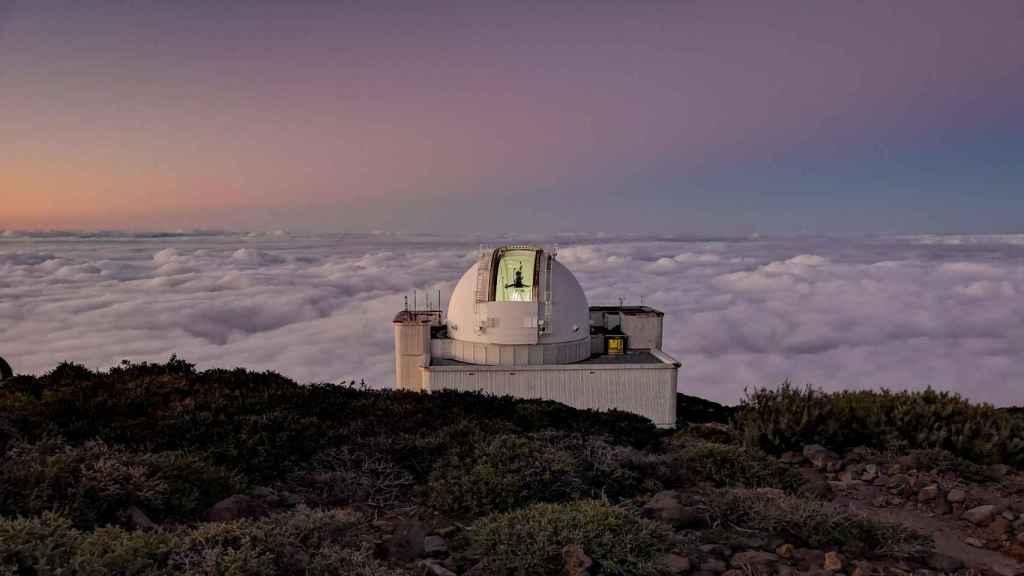Telescopio Sueco en el observatorio del Roque de los Muchachos, La Palma