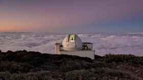 Telescopio en el observatorio de los Roques de los Muchachos, La Palma