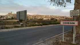 Entrada a Cehegín el municipio murciano donde reside un negacionista.