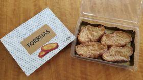 El paquete con cuatro torrijas fritas congeladas de Mercadona.