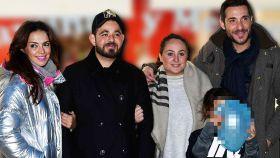 Olga Moreno, David Flores, Rocío Flores y Antonio David Flores en diciembre de 2019.