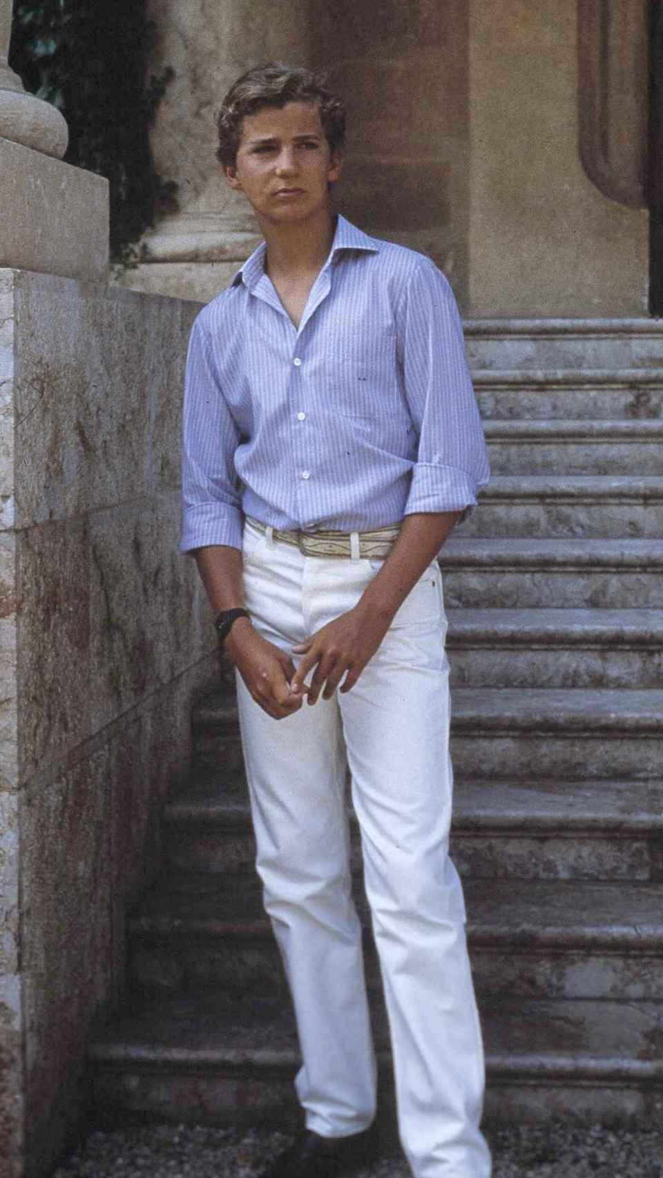 El príncipe Felipe a principios de la década de los 80.
