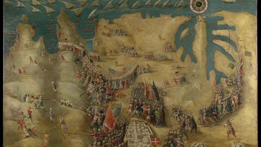 Huida de los turcos en el sitio de Malta.