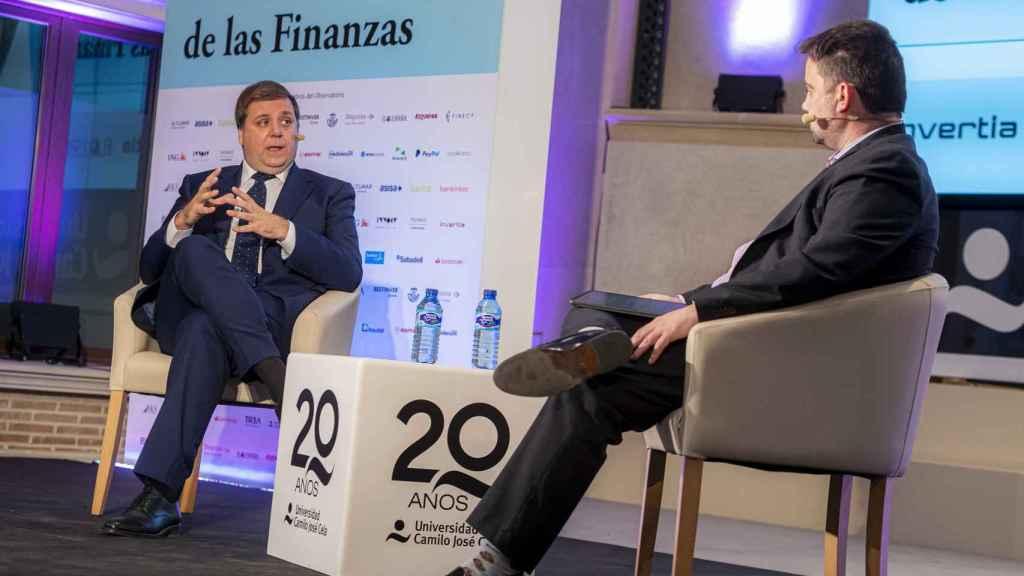 El presidente de Correos, Juan Manuel Serrano, en el Observatorio de las Finanzas organizado por EL ESPAÑOL.