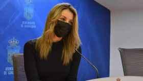 La concejal de Hacienda y Gestión Presupuestaria, Lucía de Luz, en rueda de prensa
