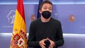 Íñigo Errejón, este martes en el Congreso.